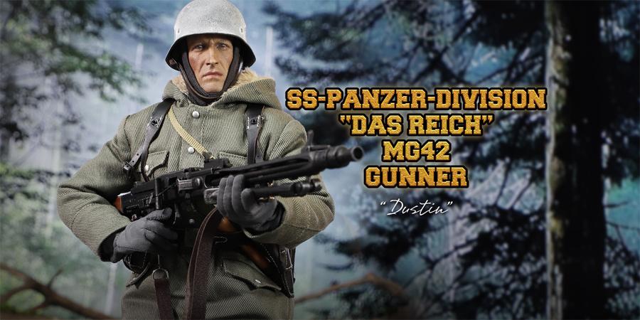 DID Dragon in Dreams 1:6TH SCALA WW2 tedesco Guanti ģrey fredro