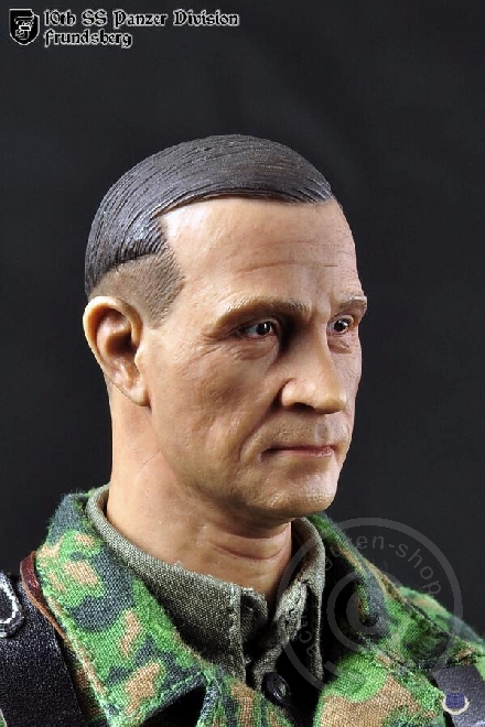 "1:6th CalTek Head Sculpt German 10th Panzer Division For 12/"" Male Figure"