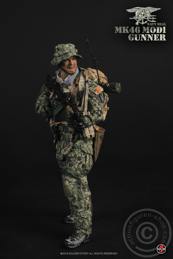 Navy Seal MK46MOD1 Gunner Hydration bag with Tube 1//6th Scale by Soldier Story