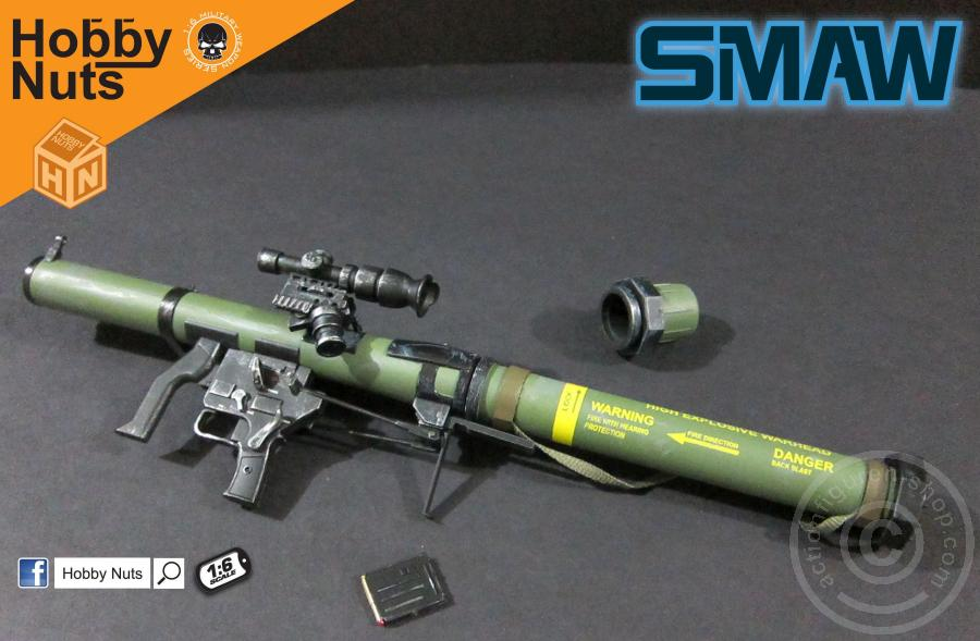 Hobbynuts 1//6 Scale SMAW MK153 Rocket launcher OD Green Color Weapon Model Toy