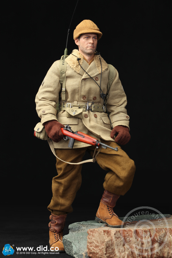 1//6 Scale DID Action Figures Brown Gloves Paul Radio Operator Christmas