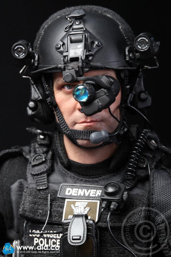 SWAT Pointman Denver 1//6 Scale Grenade Launcher Set DID Action Figures
