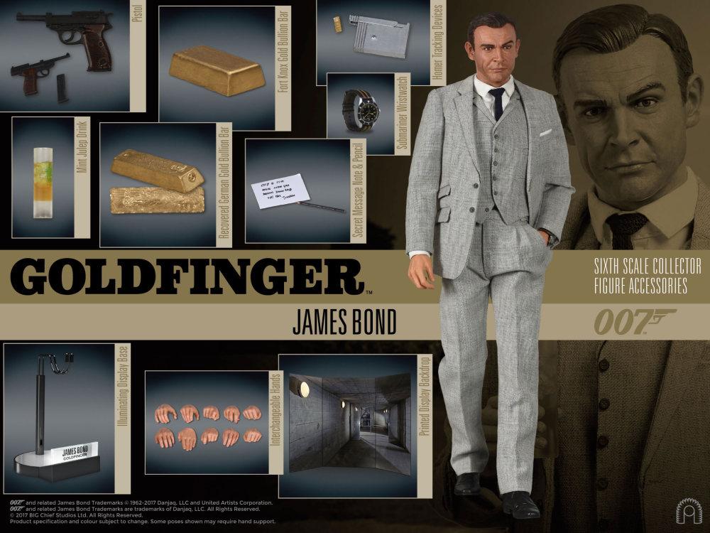Big Chief James Bond 007 Goldfinger 1//6 Sean Connery