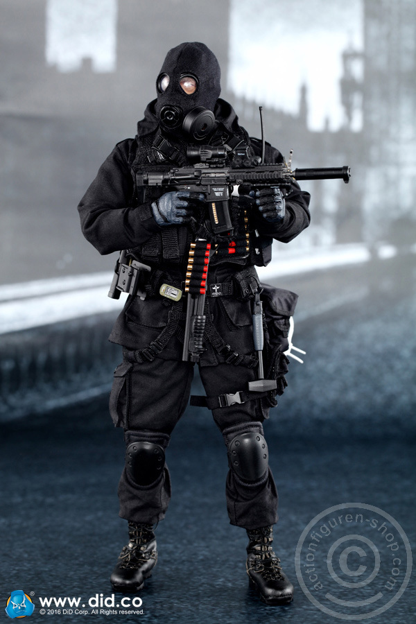 1//6 Scale British Special Air Service B Squadron Black Ops Team BLACK KNEE PADS