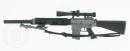 SR-25 Sniper-Rifle (KAC) mit Schalldämpfer