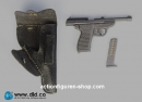 P38 Pistole mit Leder-Holster