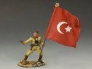 Turkish Officer w/ Flag