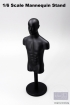 Mannequin Bust in 1/6 Scale - black