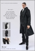 Figure Clothing - Black Overcoat Full Set
