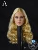 Female Head - long curly Blond Hair