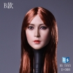 Female Head - long Red-Brown Hair