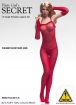 Fishnet Bodysuit Set - rot