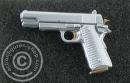 Pistole Colt M1911 - silver/gold