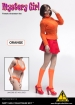 Mystery Girl Outfit Set mit Kopf - orange