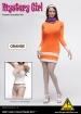 Mystery Girl Outfit Set mit Kopf - orange