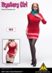 Mystery Girl Outfit Set mit Kopf - rot