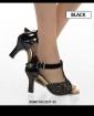 High Heels - schwarz/glitter