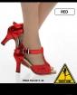 High Heels - rot/glitter