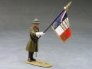 French Officer w/Flag
