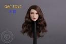 Female Head - brown long Hair