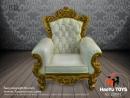 Single Sofa - Creme/Gold