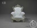 Sessel - Weiß/Silber