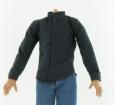 Shirt w/ stand-up collar - black