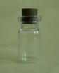 Glasbehälter mit Korken, 26mm