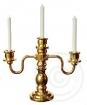 Kerzenleuchter - gold, 3 Kerzen