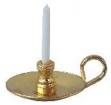 Kerzenleuchter - gold, 1 Kerze