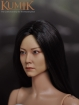 Weiblicher Kopf - schwarze Haare