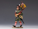 92nd Highlanders Bagpiper Marching