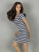 Black and White Stripes Mini Dress