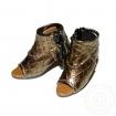 Female Faux Alligator Skin High Heel Shoes