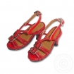 Red Straps High Heel Shoes