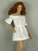 White Lace Off-Shoulder Romper Mini Dress