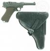 Pistole P08 (beweglich) mit Holster