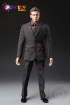 Men Suit - Dark brown / black checkerd