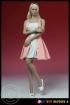 Kleid mit High Heels - pink/weiß