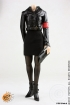 German Woman Officer Leather-Uniform - black
