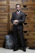 Mens striped Suit Set - dark-grey