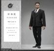 Klassischer 3-teiliger Anzug - schwarz