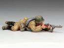 Red Army Soldier Lying Prone