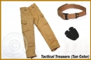 Tactical Pants with Belt and Knee Pads
