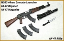 AK-47 w/ M203 Granade Launcher and Bajonett