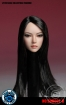 Female Head - black long Hair
