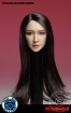 Female Head - long black Hair