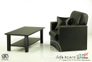 Single Sofa w/ Table - black - for 1:6 Figures