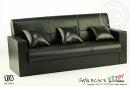 3er Sofa - schwarz - für 1:6 Figuren