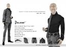Fashion Men in Grey Suit Set